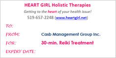 Reiki Treatment Gift Certificates